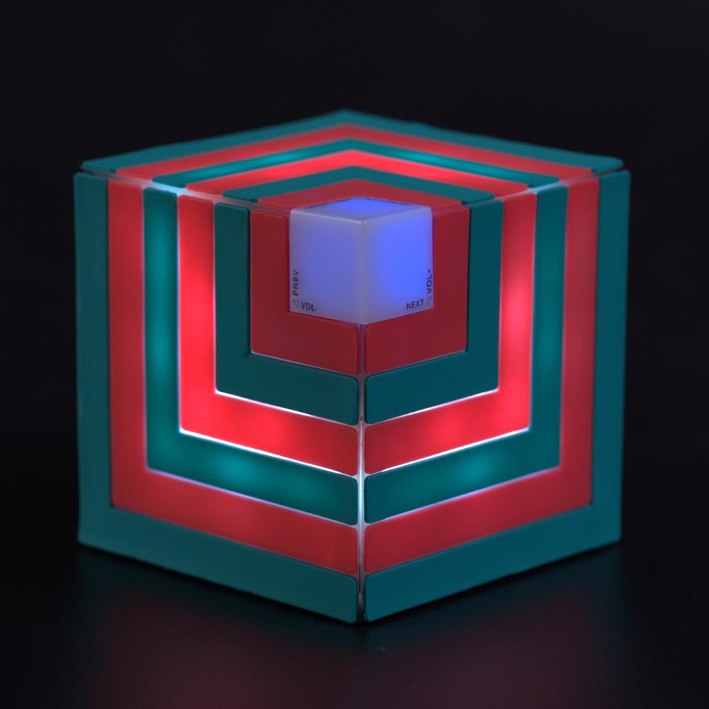 Cubic rainbow speaker