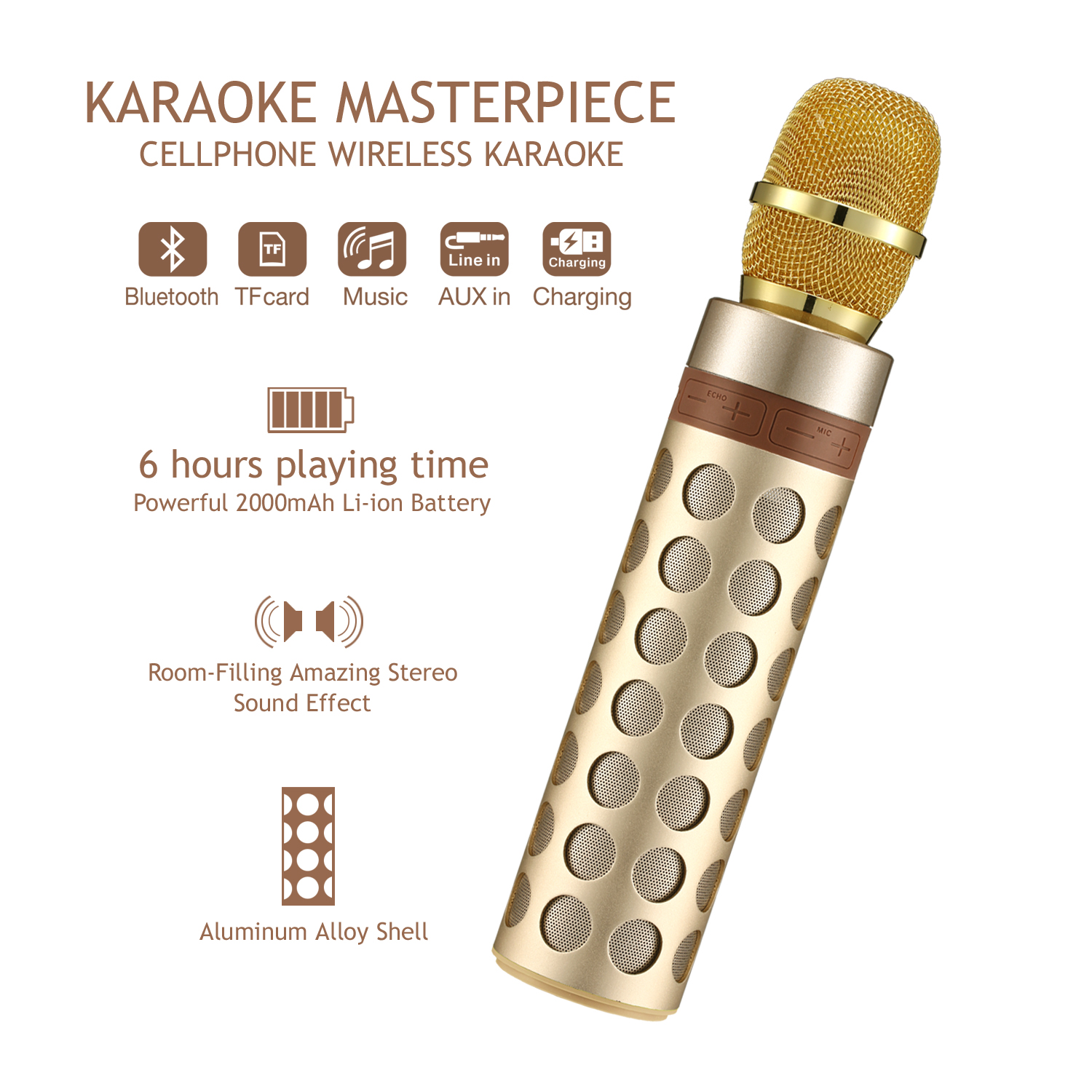 Anywhere Karaoke Bluetooth Speaker